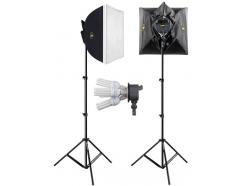 Kit Softbox Iluminador Estúdio Youtube 50x50cm 220v Four Light 227cj