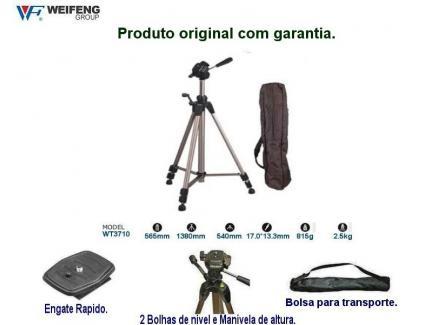 Kit Tripé Greika Com Cabeça, Bolsa E Suporte Celular Wt3710