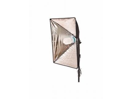 Kit Iluminação Estúdio Youtube Greika 2 Softbox 50x70cm Grid E Bolsa Ágata Ii