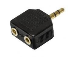 Adaptador Áudio 2p2st F X P2st M Dourado