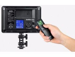 Iluminador Led 308 Godox Para Dslr Foto Vídeo Filmagem Com Controle E Manopla 5600k