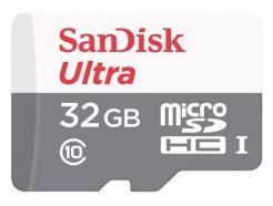 CARTÃO DE MEMÓRIA 32GB SANDISK MICRO SDHC 48MBS / 320X / CLASSE 10 ULTRA COM ADAPTADOR