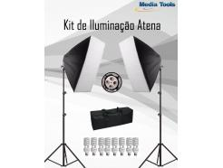 Kit Softbox Super Iluminação Tricool Completo Pro Estúdio Youtube Greika 50x70cm Luz Contínua Atena Pk-Sb01 *Promoção*