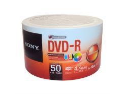 DVD-R 4.7GB SONY PRINTABLE 16X EM PINO COM 50 UNIDADES *Promoção*
