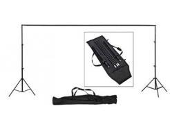 Kit Suporte Fundo Greika Estúdio De Tecido Com 4 Barras Modulares De 75cm Até 3m
