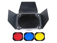 Rebatedor Barndoor Para Flash F300 Greika Com 3 Filtros Gda99