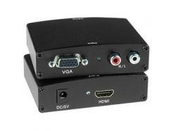 ADAPTADOR HDMI F X VGA F CONVERSOR COM ÁUDIO