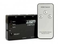 Hub Switch Hdmi Multilaser 3 Portas Com Controle Remoto Wi290