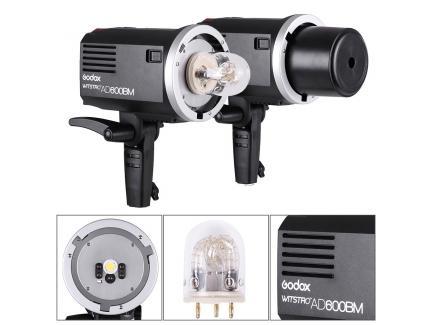 Flash Tocha Estúdio Godox À Bateria Alta Velocidade Witstro Ad600bm