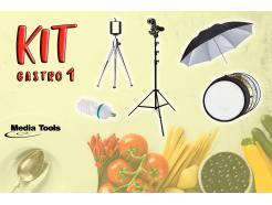 Kit Gastronômico 01 Para Foto De Produtos Com Sombrinha Media Tools