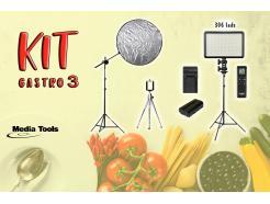 Kit Gastronômico 03 Para Foto De Produtos Com Led Media Tools