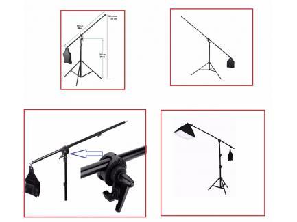 Kit Iluminação Estúdio Pro Tricool Completo Youtube Greika Softbox 50x70cm 220v Tripé Girafa Ágata