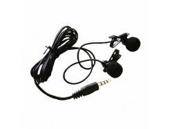 Microfone De Lapela Para Celular Iphone Smartphone Ipad Duplo Cabo 1,5m