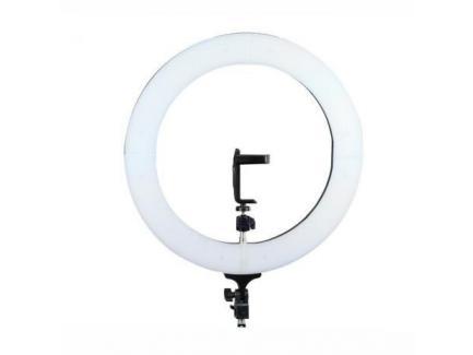 ILUMINADOR LED CIRCULAR RING LIGHT RL 35CM COM FONTE + TRIPÉ 2M + SUPORTE CELULAR