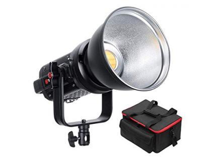 Iluminador Led Studio Light Greika Bicolor 120w Luz Quente E Fria Sk-D1200bl