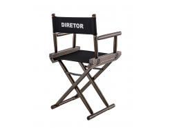Cadeira Diretor De Cinema Preta Personalizada Portátil *PEÇA AGORA*