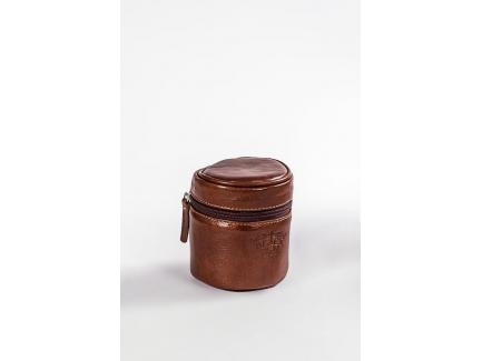 Bolsa Case Porta Lente Black Hold Couro Café Pequena