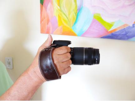 Alça De Mão Pulso Hand Strap Black Hold Couro Café