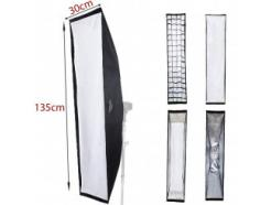 Softbox Flash Bowens Strip Light Com Recuo 30x135cm