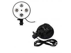 Suporte Iluminador Greika Soquete E27 Para 4 Lâmpadas Com 2 Interruptores