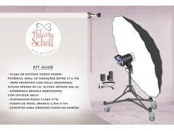Kit Flash De Estúdio Com Fundo Branco Alice Paloma Shell II
