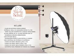 Kit Flash De Estúdio Lipe Com 3 Fundos Paloma Schell Iii Manfrotto