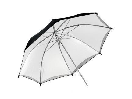 Sombrinha 2 Em 1 Difusora Rebatedora Removível Estúdio Greika Branca Prata Preta Gigante 190cm *De R$ 619,00 Por:
