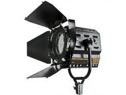Iluminador Led Fresnel 80w Pró 5500k Com Dimmer
