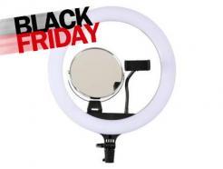 Iluminador Led Ring Light 35cm Para Maquiagem Com Espelho, Suporte Celular, Bolsa E Tripé Easy *De R$ 819,00 Por: