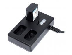 Carregador De Bateria Usb Triplo Tt Np-Fz100 Para Câmera Sony