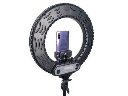 Iluminador Led Ring Light 35cm Bicolor Com Tripé 1,80m *De R$ 929,00 Por: