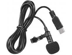 Microfone Lapela Usb-C Type C Para Celular, Youtubers