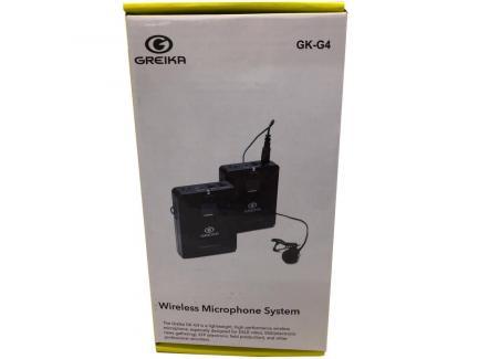 Microfone Lapela Greika Lavalier Para Celular E Câmera Sem Fio Gk-G4