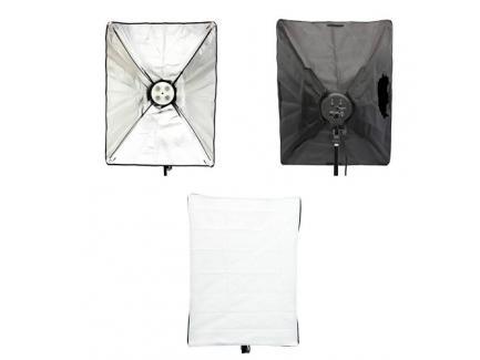 Kit Iluminação Softbox 50x70cm Para 8 Lâmpadas Sem Lâmpadas Com Bolsa *De R$ 799,00 Por: