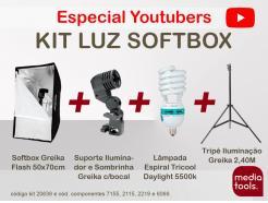 Kit Especial Youtubers Luz Softbox 50x70cm Com Lâmpada