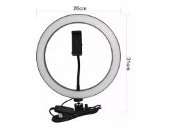 Kit Iluminador Led Ring Light 26cm Com Ball E Suporte Para Celular Sem Tripé