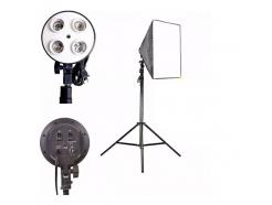 Kit Iluminação Softbox Estúdio Youtube Greika 60x60cm Sem Lâmpada