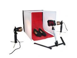 Kit Mini Estúdio Iluminação Easy Cabana Tenda 60x60cm + 2 Tripés Luz Pb-06 - Easy
