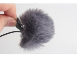 Protetor De Vento Priscila Dead Cat Para Microfone Lapela 5 Cm