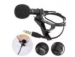Microfone Lapela Arimic Para Celular E Câmera Com Fio 6m