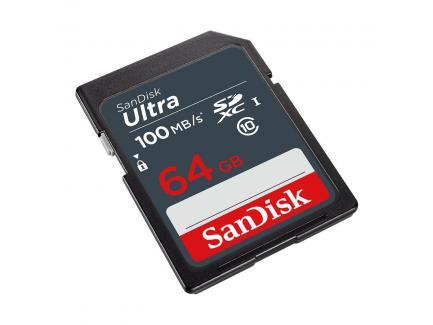 Cartão De Memória 64gb Sandisk Sdxc 100mbs Classe 10 Ultra