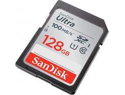 Cartão De Memória 128gb Sandisk Sdxc 100mbs Classe 10 Ultra U1