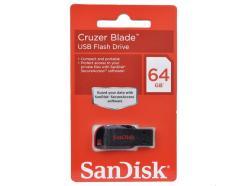 PENDRIVE 64GB SANDISK CRUZER BLADE SDCZ50-064G-B35 PRETO