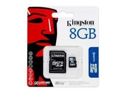 CARTÃO DE MEMÓRIA 8GB KINGSTON MICRO SDHC SD4 COM ADAPTADOR