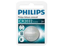 BATERIA / PILHA PHILIPS LITHIUM TIPO MOEDA 3V CR2032/01B