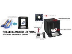 CABANA / TENDA DIFUSORA 4 FUNDOS 40 X 40CM MINI ESTÚDIO FOTO SOFTBOX COM LED INTERNO