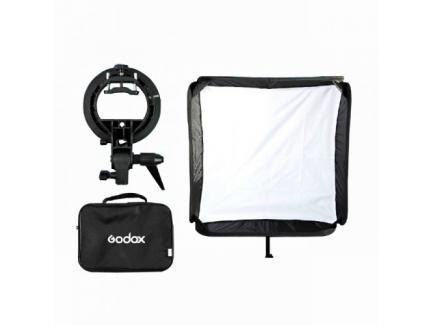 SOFTBOX COM SUPORTE GODOX FLASH SPEEDLITE 80X80CM